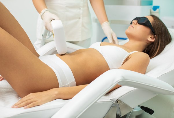 Laser hair removal belly